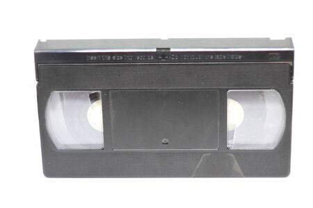 videocassette close up on a white background. old, record sound and images. Banque d'images