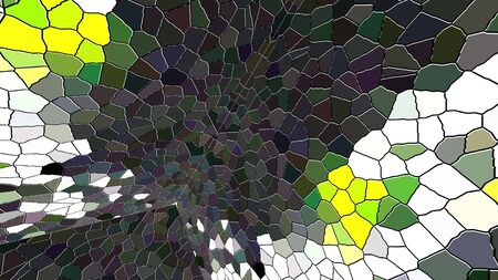 Computer generated disco mosaic background. 3D rendering of an enclosed space with multicolored mosaic walls
