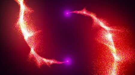 Opening intro Flash light, Lens flare, rotation Particles. 3d rendering