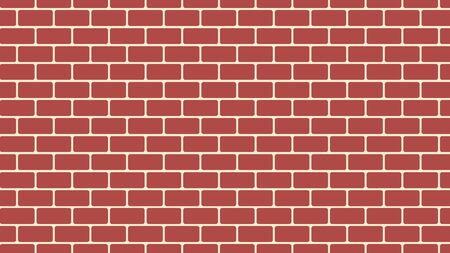 Brown brick wall background, cartoon brick wall for your design, 3d rendering abstract backdrop of flat style, computer generated