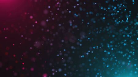 Beautiful defocused particles with glowing effect, shallow depth of field, computer generated abstract background, 3d rendering backdrop