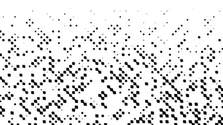 Many rows on blurred dots, computer generated abstract background, 3D rendering backdrop