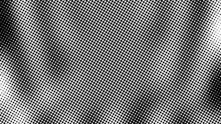 Demi-ton de nombreux points, arrière-plan abstrait généré par ordinateur, arrière-plan simple de rendu 3D avec effet d'illusion d'optique