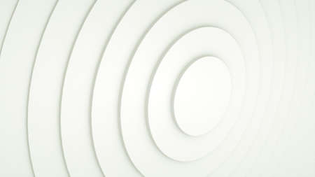 Background with a pattern of many rings, computer generated. 3d rendering of abstract circle set