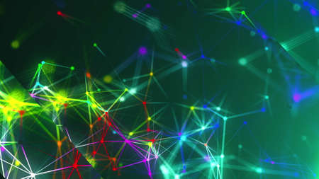 Abstract connection dots. Technology background. Network concept. 3d rendering Stock fotó - 155051327