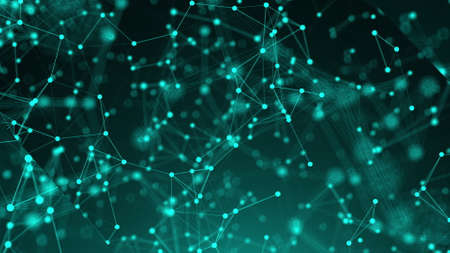 Abstract connection dots. Technology background. Network concept. 3d rendering Stock fotó - 154984126