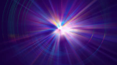 Colorful galaxy abstractipn with bright rays, 3d rendering background, computer generated backdrop Stock fotó - 155051339
