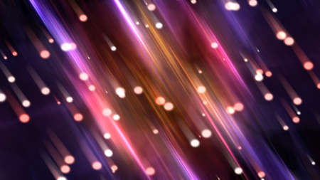 Abstract background with many light beams as downing comets, 3d rendering backdrop Stock fotó