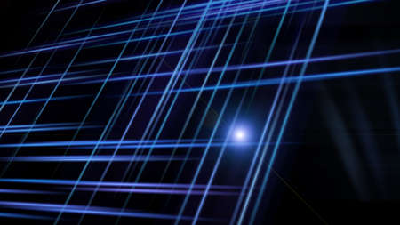 Abstract background with lines in the dark space, 3d rendering computer generated background Stock fotó - 154825753