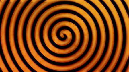 Bright and happy yellow spiral background, retro or grunge style, 3d render computer generated backdrop