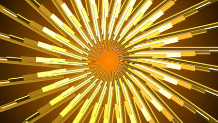 Abstract gold element. Fractal golden background. Mirror Stock fotó - 155051489
