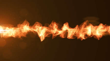 Abstract energy wave. 3d rendered background. Orange Stock fotó