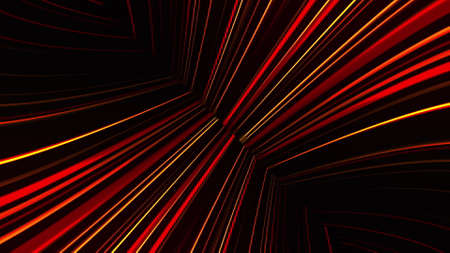 Abstract neon glow of spotlight lines, computer generated. 3d rendering abstract background with colorful rays