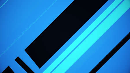 Abstract blue backdrop with thin and wide diagonal lines. Computer generated 3d render
