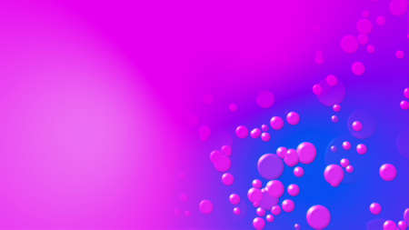 Abstract multicolored backdrop with round bubbles. Computer generated 3d rendering 版權商用圖片