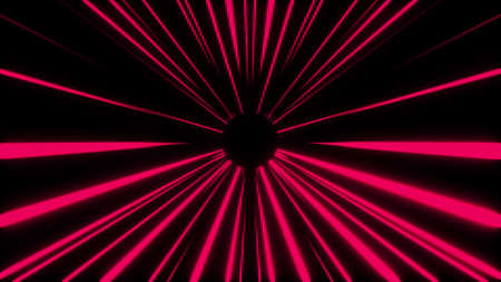 Round tunnel with dark and light areas. Computer generated dynamic background. 3D rendering