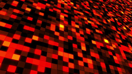 Abstract surface from color mosaic. 3D rendering of square blocks. Computer generated technology backdrop. 版權商用圖片