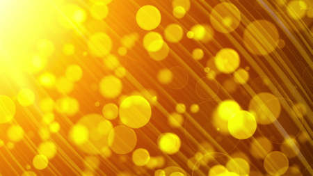 Abstract background with many of gold transparent particles and lights. Computer generated 3d rendering