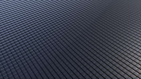 Abstract background from wavy metallic Grid. 3d rendering modern surfece, computer generated. 写真素材