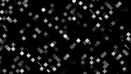 Pixel block tracery for creative 3d render shapes. Digital square tiles in futuristic chaotic presentation space. Brick elements of textural minimalistic design in modern style.