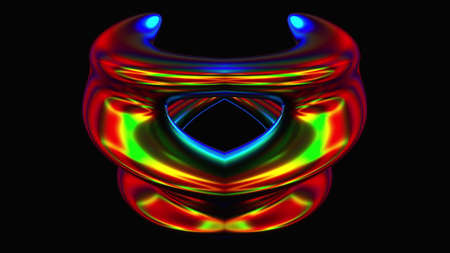 Bright spinning spiral in 3d render digital space. Graphic curved lines in illusory futuristic vortex. Twisted stripes in dynamic wavy dance. Element for creative splash and presentation