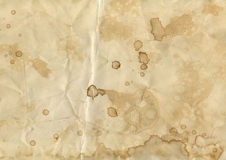 old crumpled paper with blots background