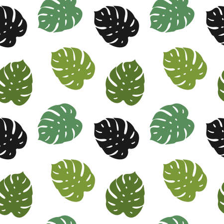 different green monster leaves pattern