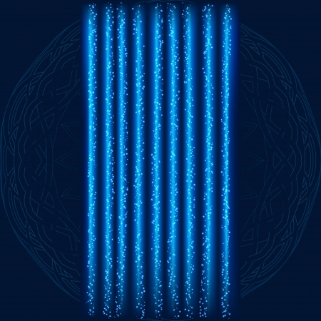 Blue Lightning Garland With on Textured Background Stock Vector - 18638865
