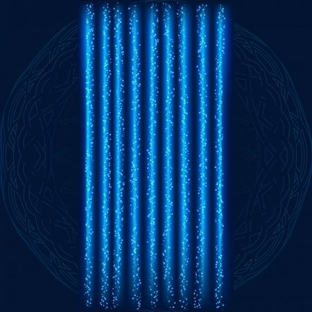 Blue Lightning Garland With on Textured Background Illustration
