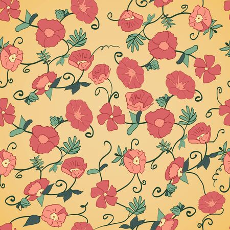 Red Poppy Seamless  Textured Background