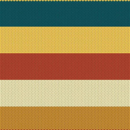 Striped Coloured Knitted Background