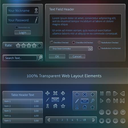 100  Transparent Web design Fields templates