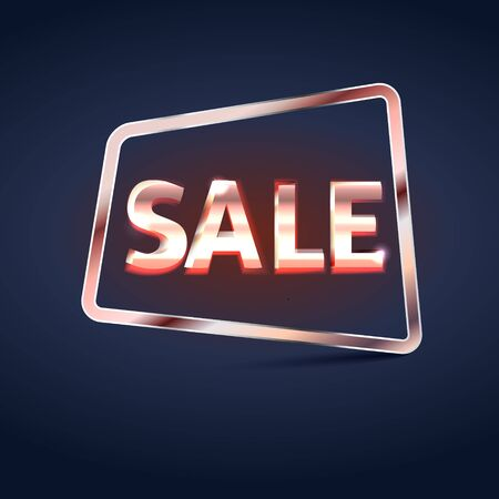 Glossy Banner with Sale Text