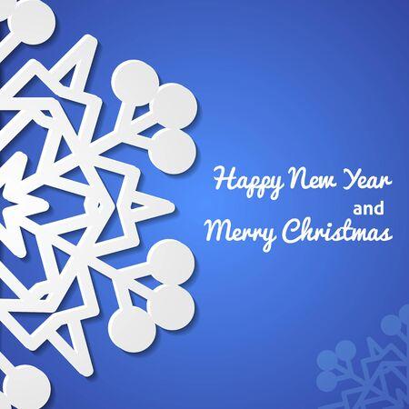 Paper christmas snowflake card Illustration