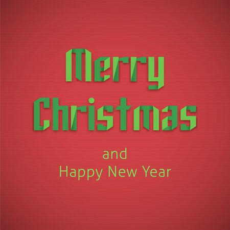 Merry Christmas lettering vector illustration