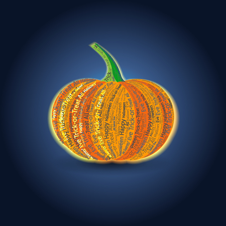 Vector Typographic Pumpkin Card Illustration
