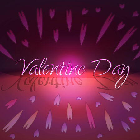 St Valentines day greeting card with hearts and bokeh Illustration