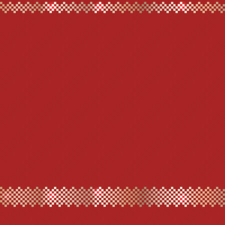 Red Ornate Christmas Pattern With Gold Elements