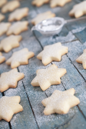 Homemade Christmas cookie with confectioner Stock Photo