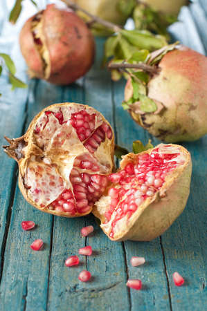 Sweet pomegranate on the table Stock Photo - 15546175