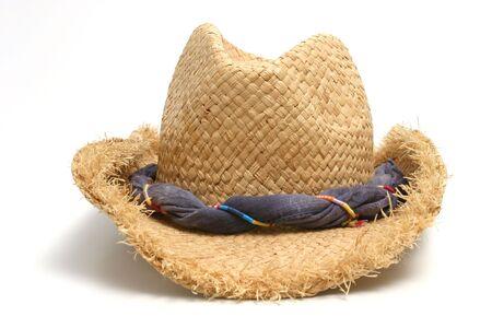 resistol: Sombrero de paja sobre fondo blanco