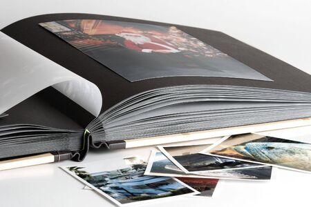 Family Photo Album with wooden covers