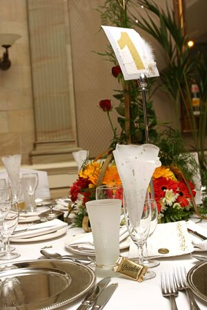 Table setting at a wedding reception Stock Photo - 867577