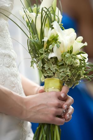 Bride holding flowers Stock Photo - 6544035