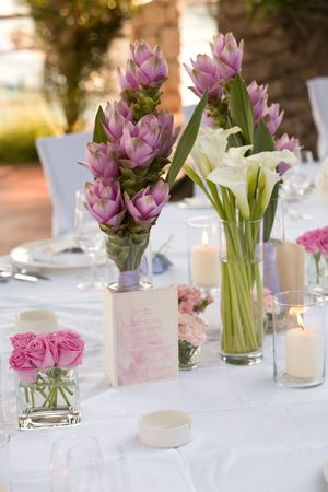 natural setting: Flowers on the table in a vase
