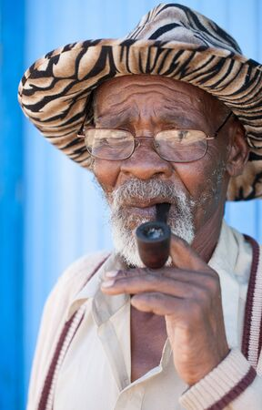 Old man having a seus look on his face Stock Photo - 13620092