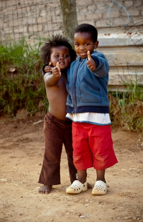 cape town: Two small kiddies …hey hey, everything is ok