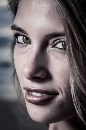 Very close portrat of a female model with beautiful green eyes. Stock Photo - 20358696