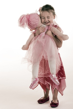 ballet child: A little girl with her most favourite friend in the whole world.