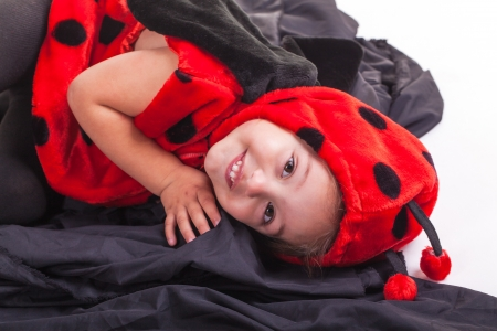 I am changing into a ladybird and Im the friendliest of them all. photo